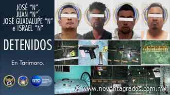 Una víctima de secuestro liberada y Cuatro detenidos en Tarimoro, Guanajuato - Noventa Grados
