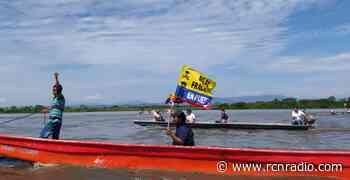 Con caravana fluvial, pescadores protestaron por piloto de fracking en Puerto Wilches - RCN Radio