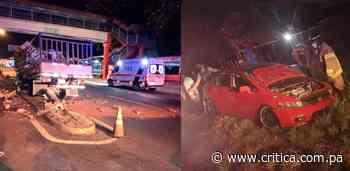 Tres heridos deja accidente de tránsito en Río de Jesús - Crítica Panamá