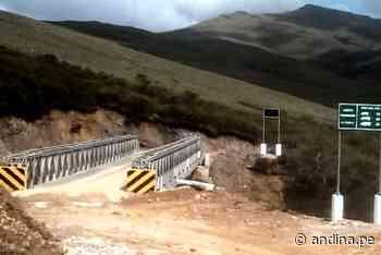 Áncash: Ministerio de Transportes instala puente modular en Pomabamba - Agencia Andina