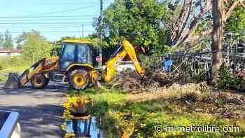 Limpieza de la línea de conducción de agua potable en Alanje y Boquerón - Metro Libre