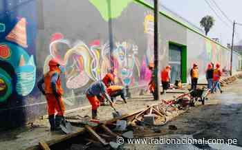 Inició mejoramiento de veredas en el jirón Huanta en Barrios Altos - Radio Nacional del Perú