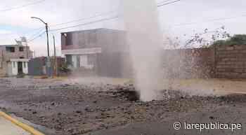 Arequipa: rotura de una tubería de agua afectó 20 viviendas en Yura - LaRepública.pe