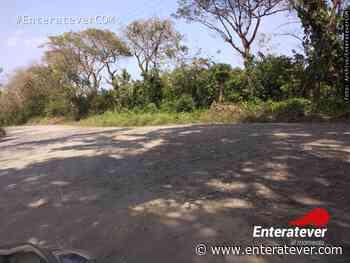 Principal acceso de localidad Adolfo Ruiz Cortines en pésimas condiciones - Enteratever
