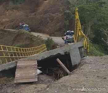 Comunidad amenaza con tumbar puente en mal estado en Aranzazu - La Patria.com