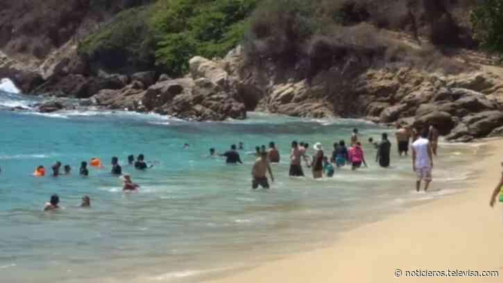 Limitarán acceso a playas de Puerto Escondido durante vacaciones de Semana Santa - Noticieros Televisa
