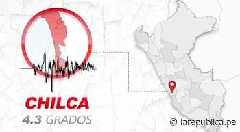 Temblor de magnitud 4.3 remeció Chilca esta tarde, según IGP - LaRepública.pe
