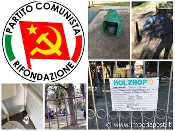 """Diano Marina: parco giochi via Campodonico nel degrado. Rabbia Rifondazione Comunista. """"In stato di abbandono, bagni deplorevoli""""/Le immagini - IMPERIAPOST"""