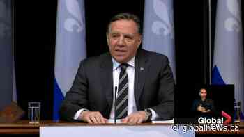 Quebec premier announces lockdowns for Quebec City, Levis, Gatineau, warns COVID-19 could 'explode' | Watch News Videos Online - Globalnews.ca