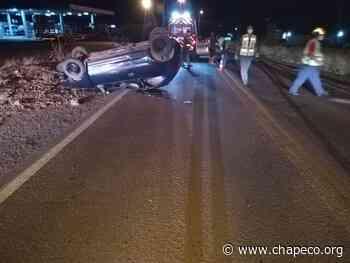 Veículo capota na SC 155 em Abelardo Luz – Notícias Chapecó.Org - Chapeco.Org