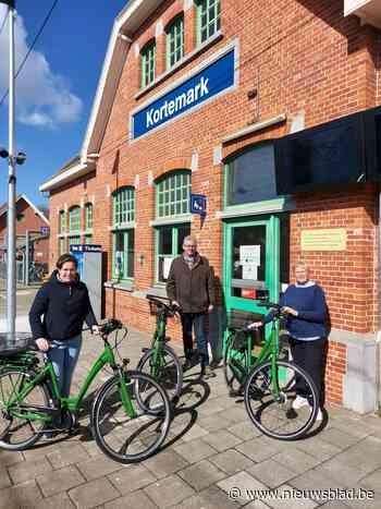 Vanaf nu ook deelfietsen aan het station (Kortemark) - Het Nieuwsblad