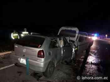 Dos heridos en la vía Ambato-Guaranda - La Hora - La Hora (Ecuador)