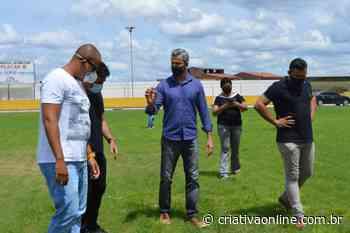 Sudesb faz vistoria técnica no Estádio Antonio Pena na cidade de Catu - Criativa On Line