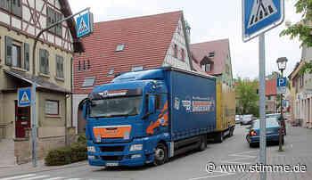 Keine Mehrheit für ein Lkw-Durchfahrtsverbot in Schwaigern und Stetten - STIMME.de - Heilbronner Stimme