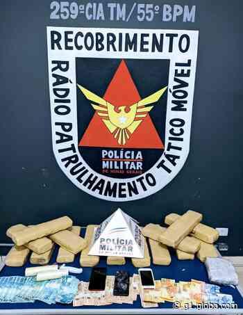 Polícia apreende 16 tabletes de maconha em Pirapora e seis pessoas são detidas - G1