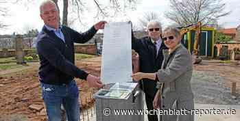 Bau des Kolumbariums geht voran: Grundsteinlegung für Urnenkirche in Ramstein - Wochenblatt-Reporter