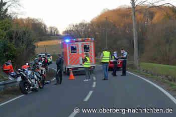 L414: Motorradfahrer geriet in den Gegenverkehr | Radevormwald - Oberberg Nachrichten | Am Puls der Heimat.