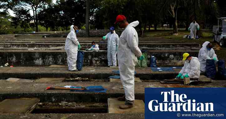 Brazil's gravediggers exhume bodies to make space for Covid victims
