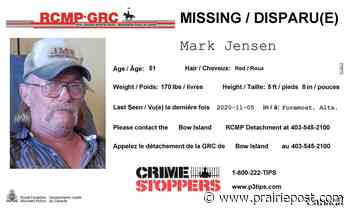 Bow Island RCMP seek assistance in locating missing male - Prairie Post
