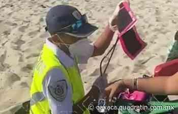 Rescatan salvavidas a mujer en Puerto Escondido - Quadratín Oaxaca