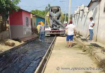 En Sitionuevo supervisan el avance de las labores de pavimentación - Opinion Caribe