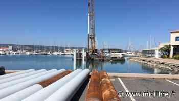 Frontignan : le planté de pieu se poursuit dans le port de plaisance - Midi Libre