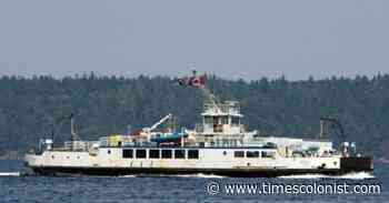 Crew on Mill Bay ferry route pull person in water to safety - Times Colonist