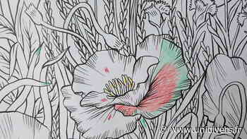 Mise en couleur d'une fresque Jardin de Relais Nature dimanche 6 juin 2021 - Unidivers