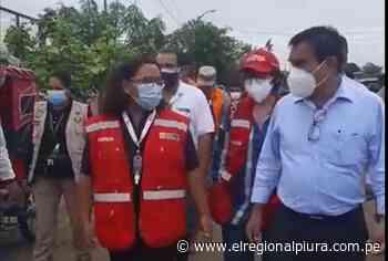 Ministra de Vivienda y alcalde de Chulucanas verifican daños por desborde de río Yapatera - El Regional