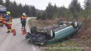Unfall bei Affing: Autofahrer überschlägt sich - Augsburger Allgemeine