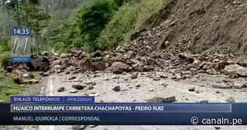 Amazonas: Caída de huaico bloquea tránsito en carretera Chachapoyas-Pedro Ruiz - Canal N