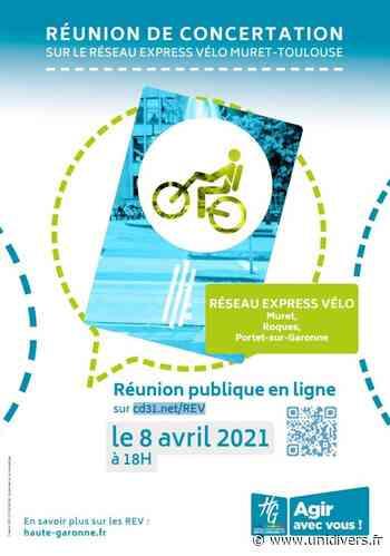 Réunion publique – Réseau express vélo Muret/Toulouse 31120 Roques jeudi 8 avril 2021 - Unidivers
