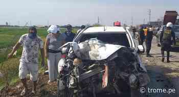 Lambayeque: Padre e hijo fallecen en fatídico accidente en vía Chiclayo- Ferreñafe - Diario Trome