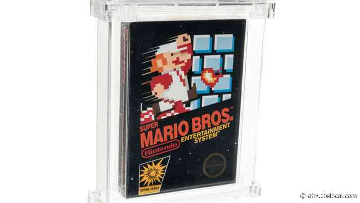 Unopened Super Mario Bros. Game Sells For $660,000 In Dallas-Based Auction