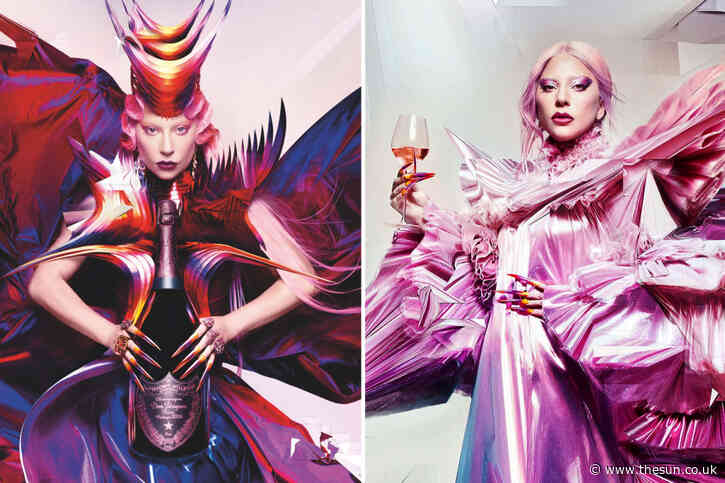 Lady Gaga looks out of this world as the face of champagne brand Dom Pérignon