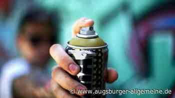 Graffiti-Sprayer in Mertingen mit grüner Farbe am Werk - Augsburger Allgemeine