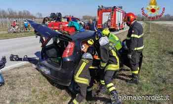Cordenons/Automobilista ferito nel tamponamento tra 2 auto - Giornale Nord Est