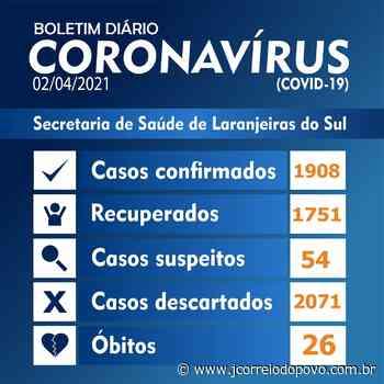 Laranjeiras registra 26º morte por Covid-19 nesta sexta-feira (02) - J Correio do Povo