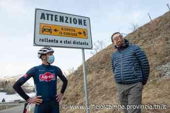 """Anche a Sega di Ala i cartelli """"Rispetta il ciclista"""". E si avvicina il Giro d'Italia - Ufficio Stampa"""