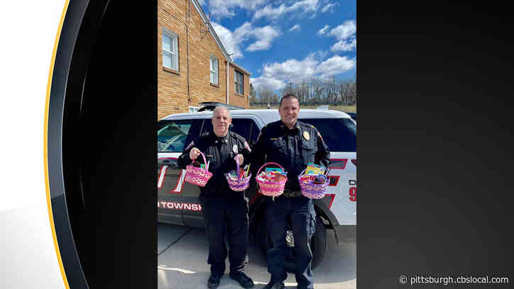 Forward Twp. Police Officers Spreading Springtime Cheer With Surprise Easter Baskets