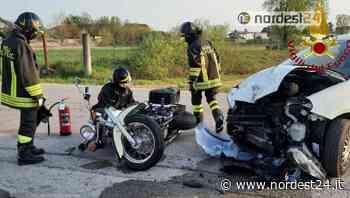 Incidente ad Azzano Decimo: scontro tra auto e moto - Nordest24.it