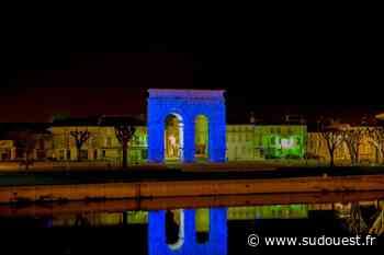 Saintes : l'arc de Germanicus bleuit pour l'autisme - Sud Ouest