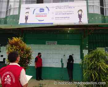 ODPE Tambopata publica carteles de los locales de votación para los comicios del próximo 11 de abril - Radio Madre de Dios