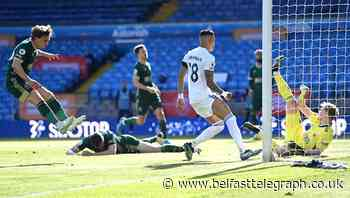 Phil Jagielka puts through his own goal as Leeds beat doomed Sheffield United