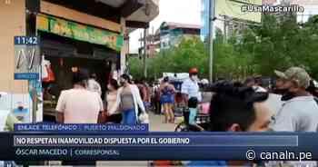 Semana Santa en Puerto Maldonado: Ciudadanos incumplen medidas dictadas por COVID-19 - Canal N