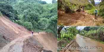 Betania en Antioquia, a punto de quedar incomunicado por las fuertes lluvias - Canal 1