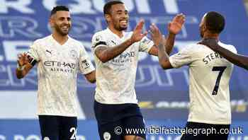 Birthday boy Gabriel Jesus on target as leaders Man City ease past Leicester