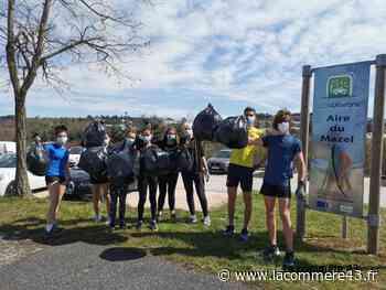 Monistrol-sur-Loire : un ramassage des déchets au pas de course pour les lycéens - La Commère 43 - La Commère 43