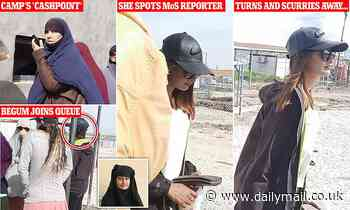 Is Shamima Begum being sent illegal cash? Jihadi bride queues at a refugee camp 'bank'