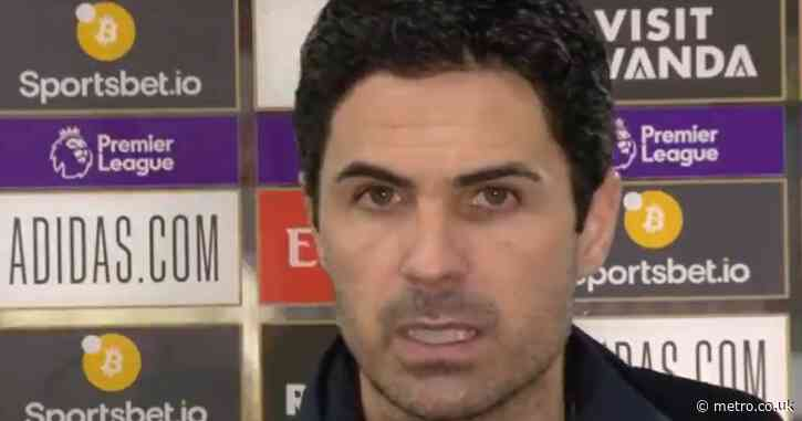 Mikel Arteta slams 'unacceptable' Arsenal performance against Liverpool